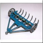 Pure Rubber Products Hay Rake - underside view