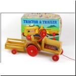 Chad Valley wooden Fordson Tractor & Trailer