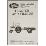 Hobbies paper pattern for a Tractor and Trailer