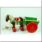 Tri-ang Teachem Toys wooden Horse and Cart