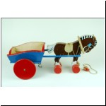 Tri-ang Teachem Toys large wooden Horse and Cart